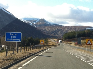 Snow on the way to Aviemore